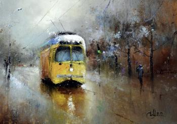 About the yellow tram. Medvedev Igor