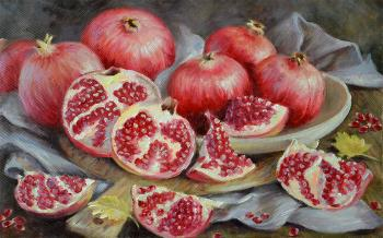 Pomegranate still life (A Picture Oil). Bakaeva Yulia