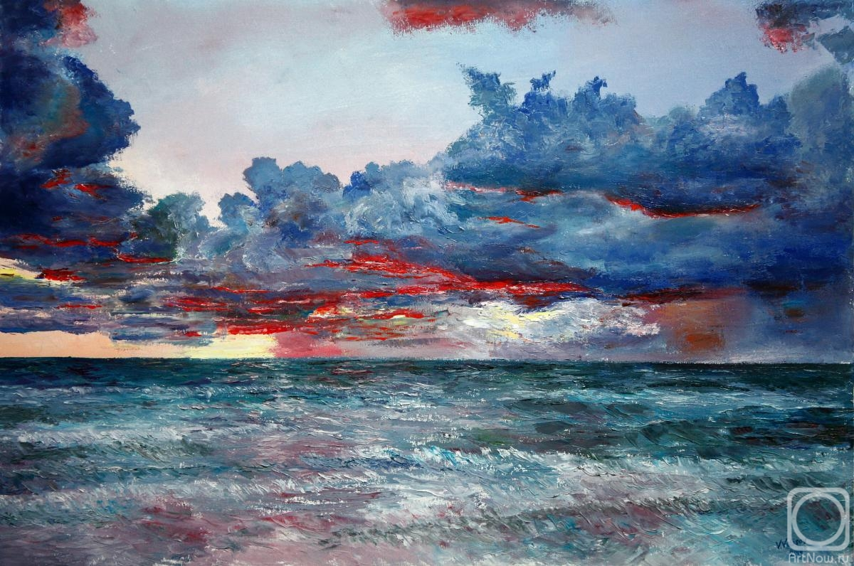 Volosov Vladmir. Evening over the ocean