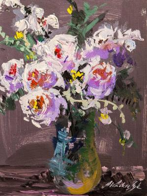 Pink bouquet in a vase N2. Vlodarchik Andjei
