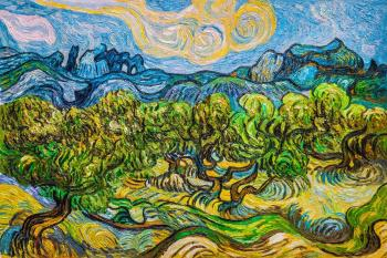 Copy of van Gogh. Olive tree. Vlodarchik Andjei