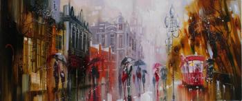 Rainy walks on the Arbat. Sidoriv Zinovij