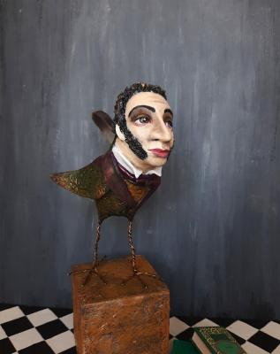 Bird art sculpture Pushkin. Khotian Ivanna