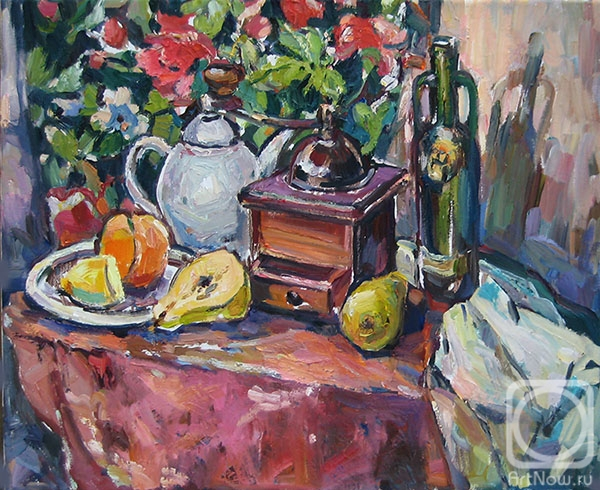 Bocharova Anna. Still life with a coffee grinder