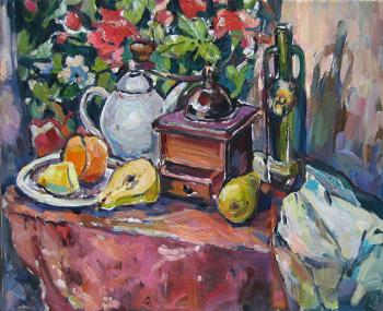 Still life with a coffee grinder. Bocharova Anna