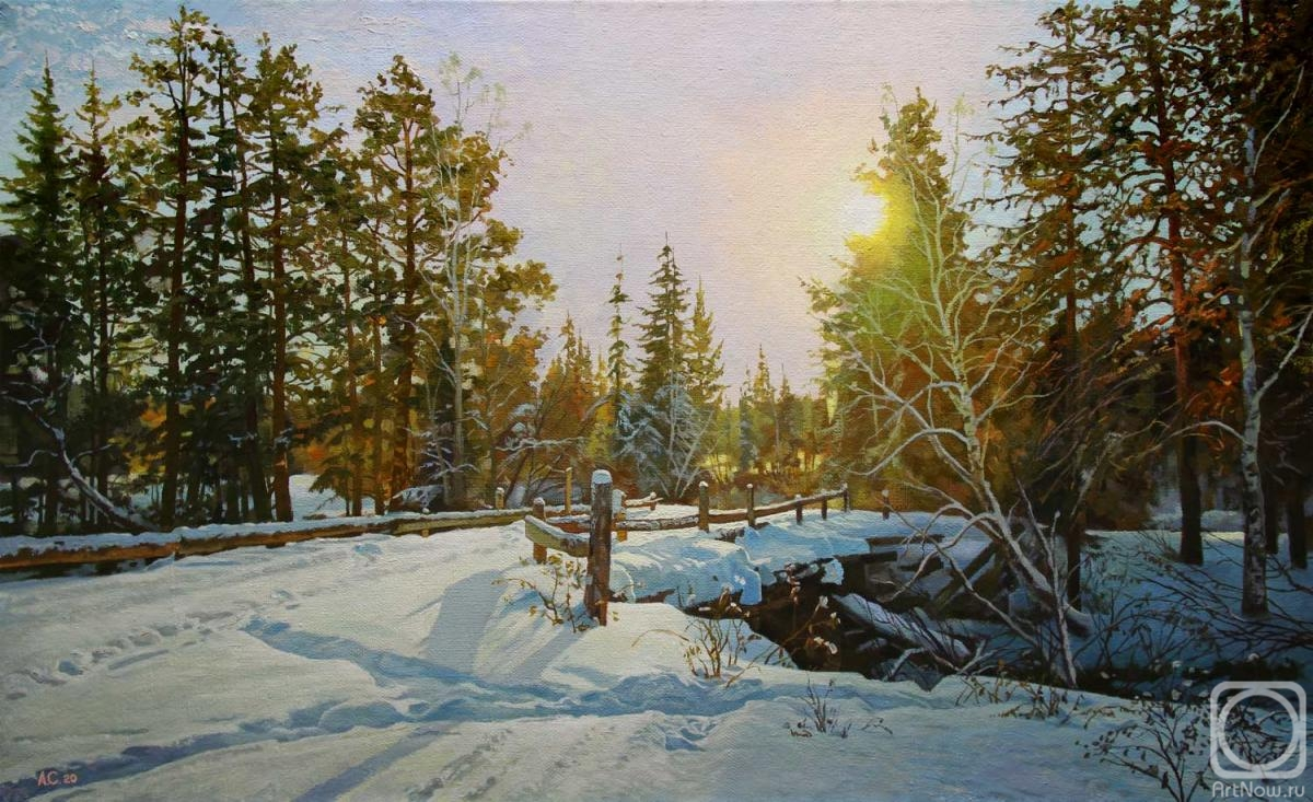 Samokhvalov Alexander. Snow and sun