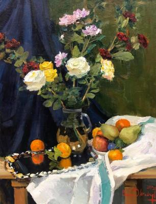 Roses and fruits. Shevchuk Vasiliy
