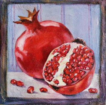 One and a half pomegranate
