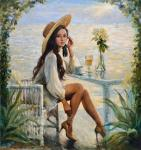 Simonova Olga. In a cafe by the sea