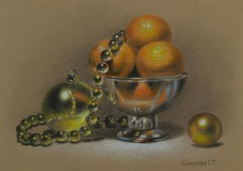 New Year's still life (Decoration). Khrapkova Svetlana