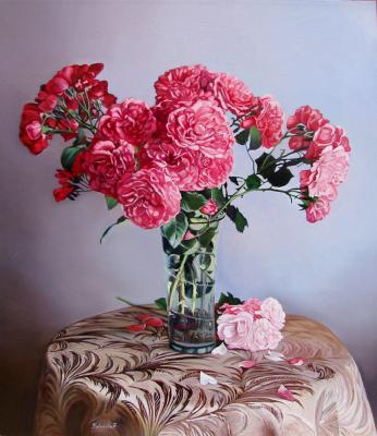 English Pink Roses (Tablecloth). Kabatova Nadya