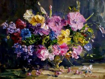 Composition with flowers (Palette Knife). Gavlin Eugeny
