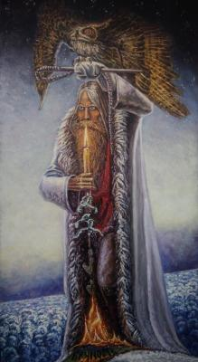 "Copy of Soviet painter Konstantin Vasiliev ""Man with Owl"". Lazarev Dmitry"