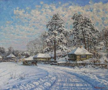 Winter day. Road. Soldatenko Andrey
