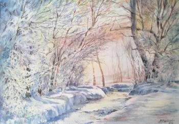 Sunny day (Watercolor). Kuropteva Evgenia