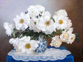 Peonies (Tablecloth). Kabatova Nadya