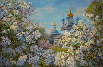 Apple trees in bloom. Panov Eduard