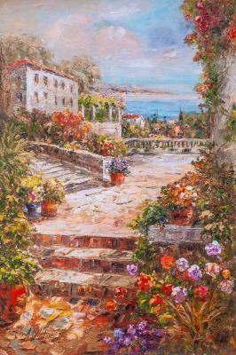 In the summer courtyard N2 (View Of The Sea). Vlodarchik Andjei