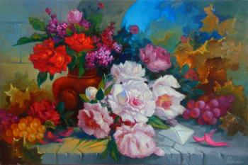 Still life with peonies. Gortsevich Anton