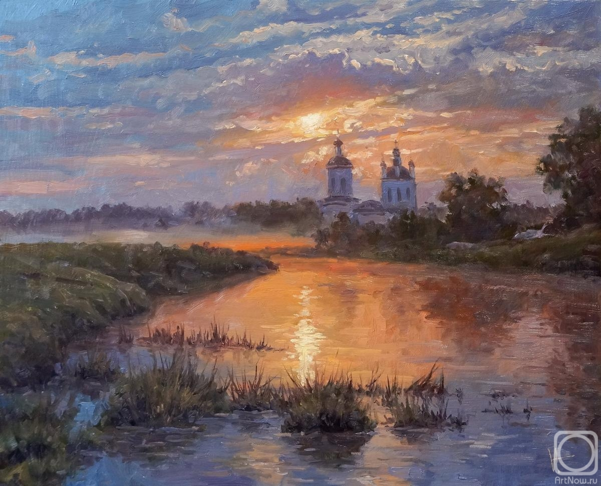 Volya Alexander. The sun goes down, the river