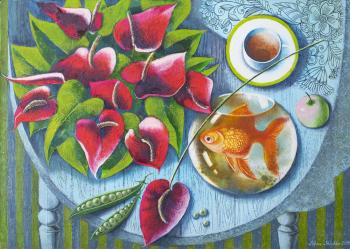 Golden Fish (Red - Orange Color). Sрichko Elena