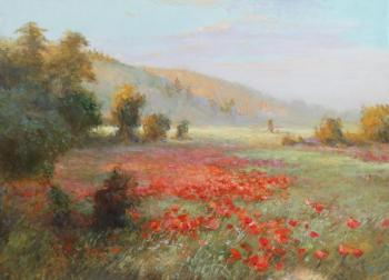 Field of poppies (Heat). Komarov Nickolay
