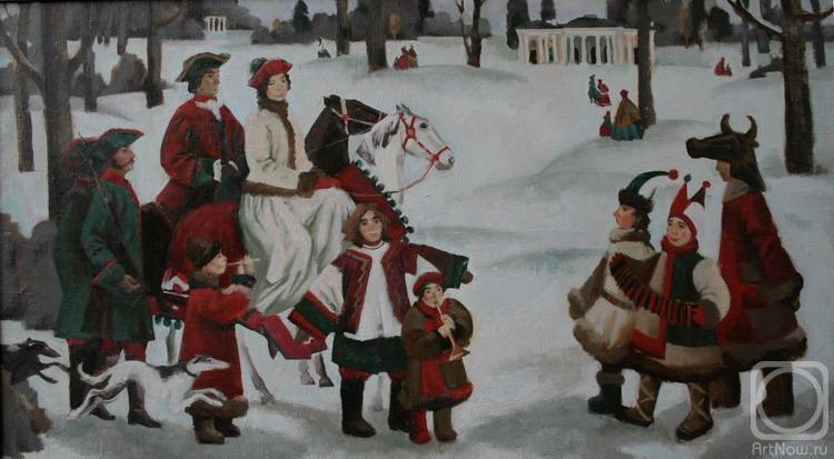 Картины художника русская зима