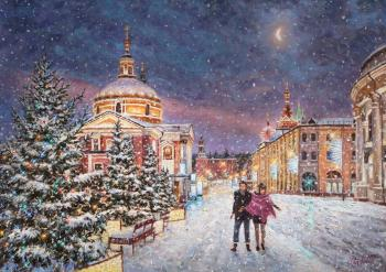 Snow fairy tale in the city. Razzhivin Igor