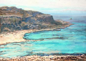 View of the Bay of Balos. Belevich Andrei