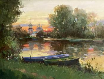 Pereslavl in the sunset fire. Bilyaev Roman