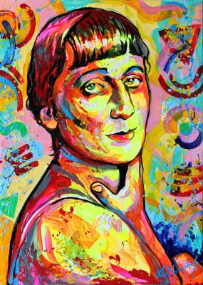 Portrait of the poet Anna Akhmatova. Shirshov Alexander