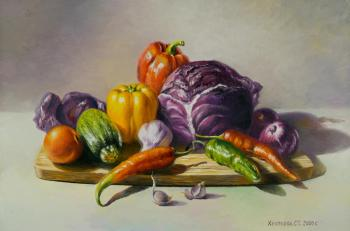 Vegetable still life. Khrapkova Svetlana