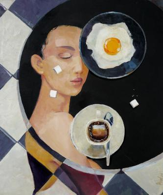 Breakfast geometry (Surrealism). Rikun Olga
