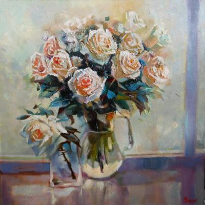 Winter bouquet (Painting Of Roses). Getman Olga