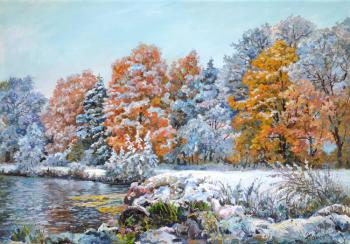 The first snow. Panov Eduard