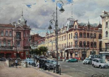 From the life of the city. Vladivostok, Svetlanskaya street. Galimov Azat