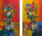 Kharabadze Zaza. Red and yellow (diptych)
