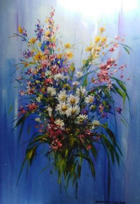Bouquet of wild flowers. Miftahutdinov Nail