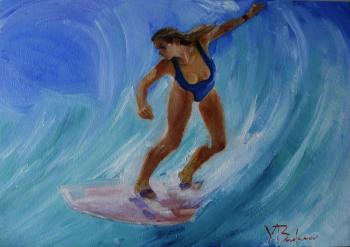 Surfer girl. Flight. Budanov Valeriy