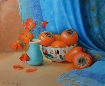 Still life with persimmon. Antonyuk Tamara