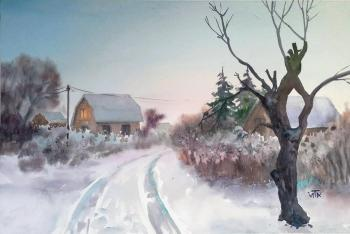 Frosty morning in the country. Tarasova Irena