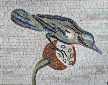 Art Mosaic Panel with Bird. Masterkova Alyona