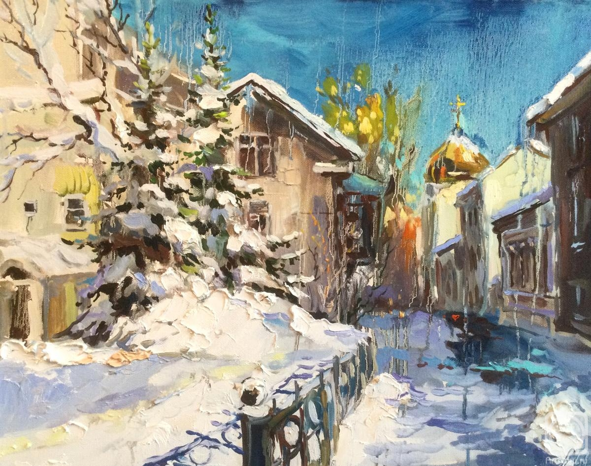 Charina Anna. After the snowfall. Gagarinsky lane