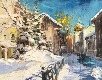 After the snowfall. Gagarinsky lane. Charina Anna