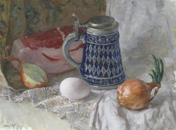 Stillife with beer mug. Korobkin Anatoly