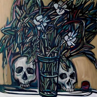 Still life with skulls. Saulov Oleg