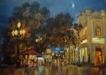 The color of the night city. Nesterov Vasiliy