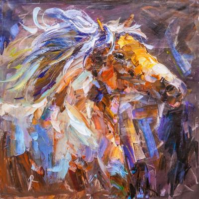 Horse. Wind in the mane. Rodries Jose