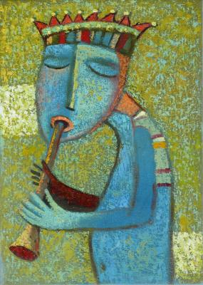 The King plays the trumpet. Sulimov Alexandr