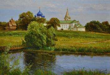 Walking in Suzdal. View of the Kremlin from the Museum of Wooden Architecture. Anikin Aleksey